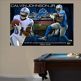 Calvin Johnson Jr. - 2012 Receiving Yards Record Mural
