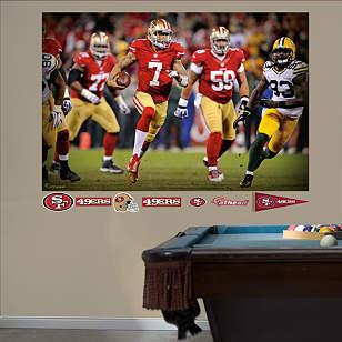 Colin Kaepernick: 2013 NFL Playoff Rush Mural