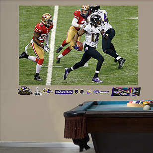 Jacoby Jones Super Bowl XLVII Return Mural