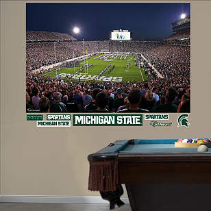 Michigan State Spartans - Night Game at Spartan Stadium Mural