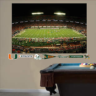 Miami Hurricanes - Land Shark Stadium Mural