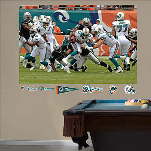 Miami Dolphins Ground Game Mural