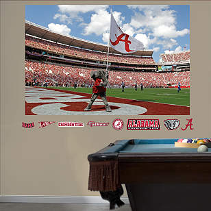 Alabama Crimson Tide Big Al Flag Mural