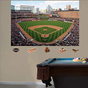 Inside Oriole Park at Camden Yards Mural