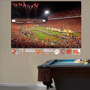 Clemson Tigers - Memorial Stadium Night Mural