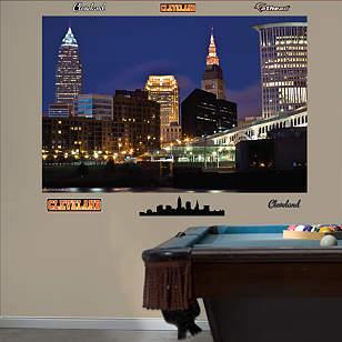 Cleveland Skyline Mural