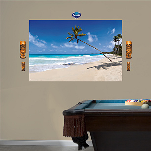 Tropical Beach Mural