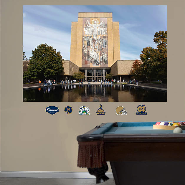 Notre dame hesburgh library mural wall decal shop for Notre dame home decor