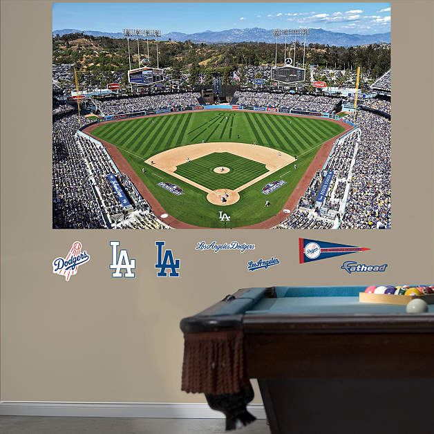 1 877 328 8877 for Dodger stadium wall mural