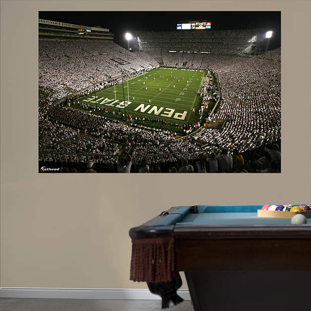 Penn state beaver stadium white out mural wall decal for Beaver stadium wall mural