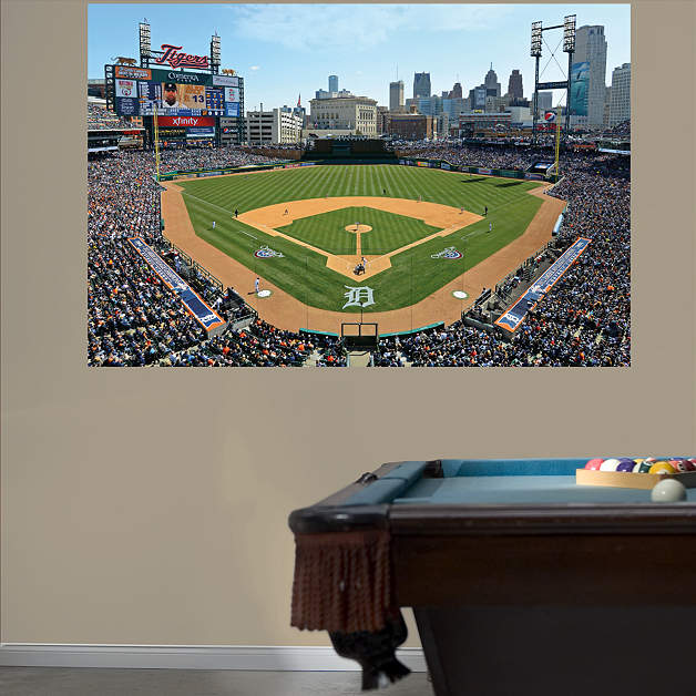 Comerica Wiring Instructions : Inside comerica park mural wall decal shop fathead