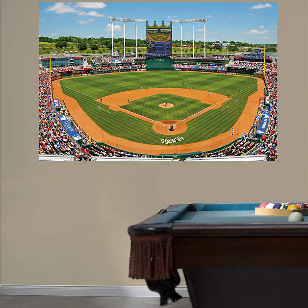 Inside kauffman stadium mural wall decal shop fathead for Baseball stadium wall mural