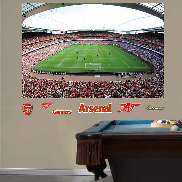 1 877 328 8877 for Emirates stadium mural