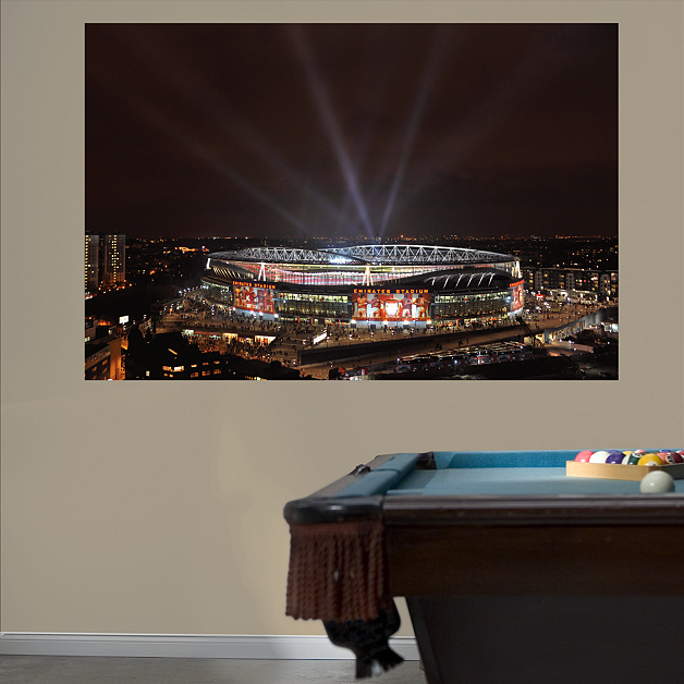 Night sky emirates stadium mural wall decal shop fathead for Emirates stadium mural