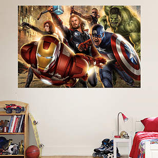 The Avengers Mural