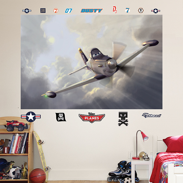 Dusty mural wall decal shop fathead for disney pixar for Disney planes wall mural