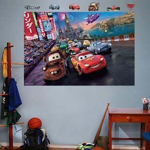Cars 2 Parade Mural