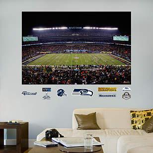 Super Bowl XLVIII Stadium Mural