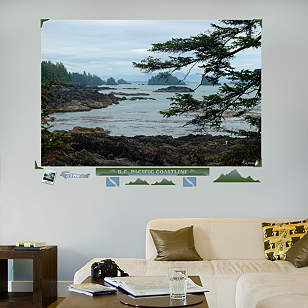 British Columbia Pacific Coastline Mural