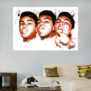 Muhammad Ali Face Illustration Mural