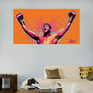 Muhammad Ali Celebration Illustration Mural
