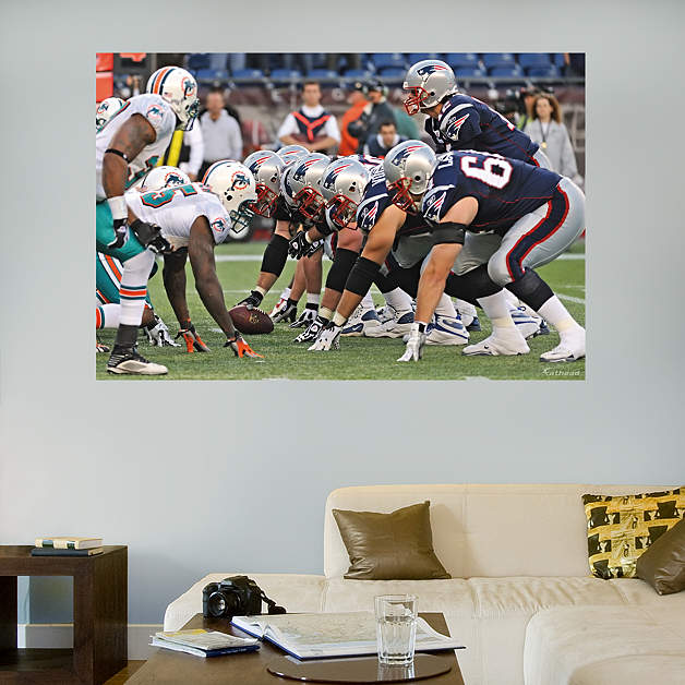 Patriots dolphins line of scrimmage mural fathead wall decal for England wall mural