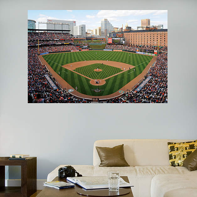 Inside oriole park at camden yards mural fathead wall decal for Baseball stadium mural
