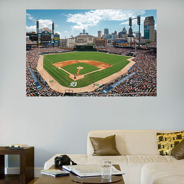 Inside comerica park mural wall decal shop fathead for for Comerica park wall mural