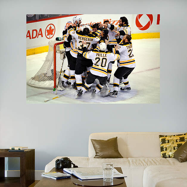 Boston bruins stanley cup celebration mural wall decal for Boston wall mural