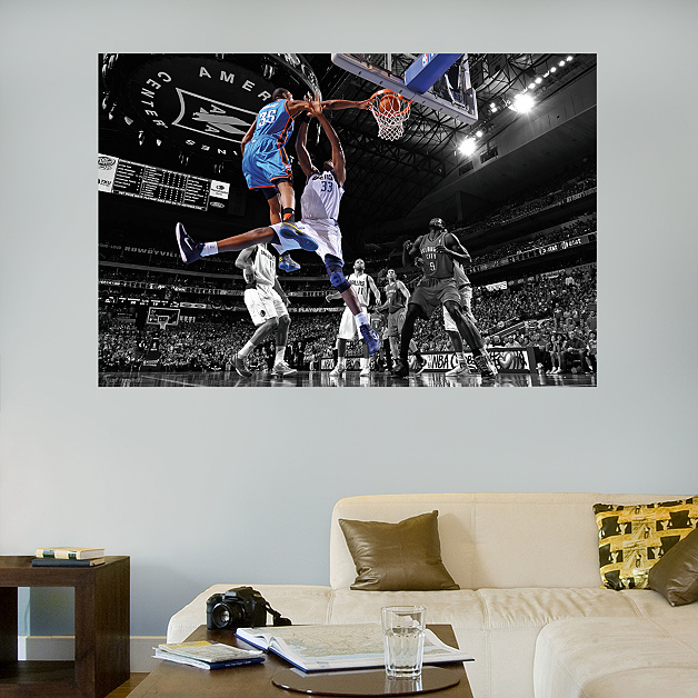 Http Www Fathead Com Nba Oklahoma City Thunder Kevin Durant Dunk Mural