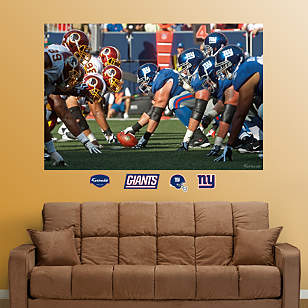 Giants-Redskins Line of Scrimmage Mural