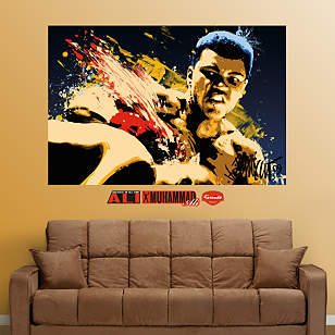 Muhammad Ali Stung - Illustration Mural