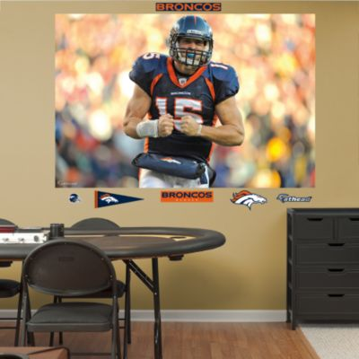Tom Brady Diving Touchdown Mural Fathead Wall Decal