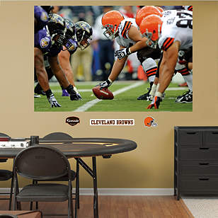 Browns-Ravens Line of Scrimmage Mural