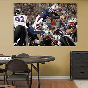 Tom Brady Diving Touchdown Mural