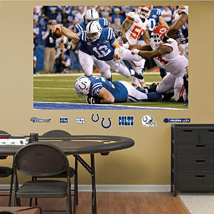 Andrew Luck - AFC Wild Card Comeback Mural