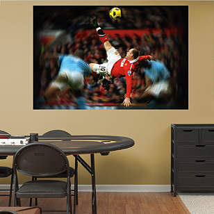 Wayne Rooney Bicycle Kick Mural