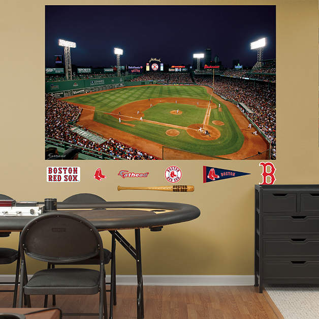 Inside Fenway Park At Night Mural Wall Decal Shop