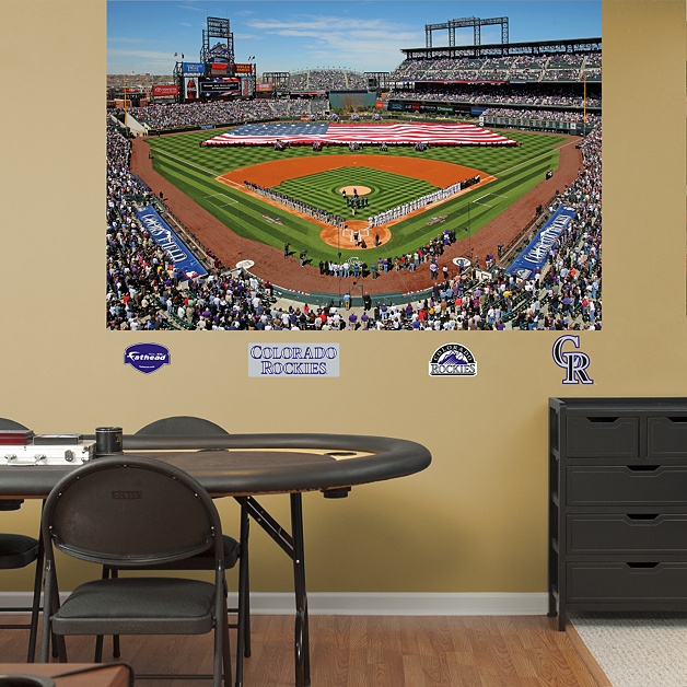 Inside coors field mural wall decal shop fathead for for Baseball field mural