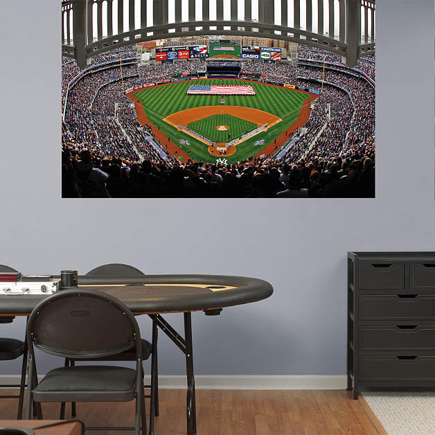 Yankee stadium american flag mural wall decal shop for Baseball stadium wall mural