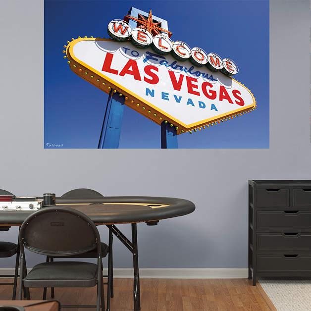 Las Vegas Sign Mural Fathead Wall Decal