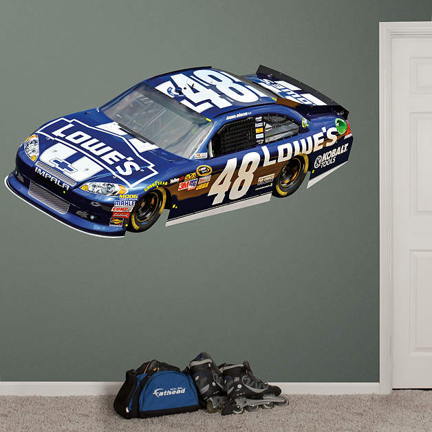 jimmie johnson 48 lowe39s car 2012 wall decal shop With kitchen cabinets lowes with nfl stickers for cars