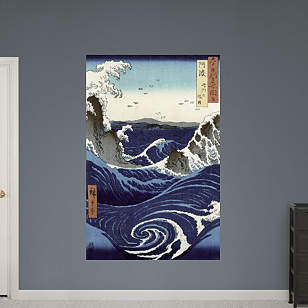 View of the Naruto Whirlpools at Awa by Hiroshige