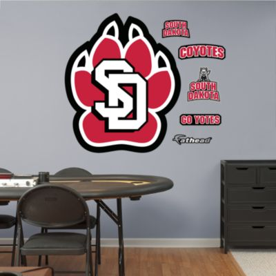 South Dakota Coyotes Logo Fathead Wall Decal