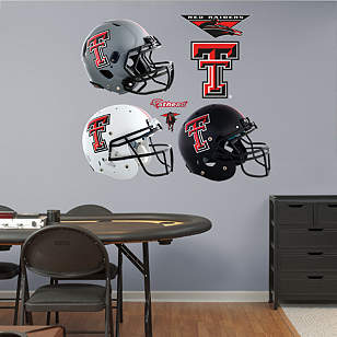 Texas Tech Red Raiders Helmet Collection
