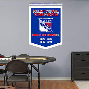 New York Rangers Stanley Cup Champions Banner