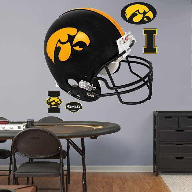 Iowa hawkeyes helmet wall decal shop fathead for iowa for Iowa hawkeye decor