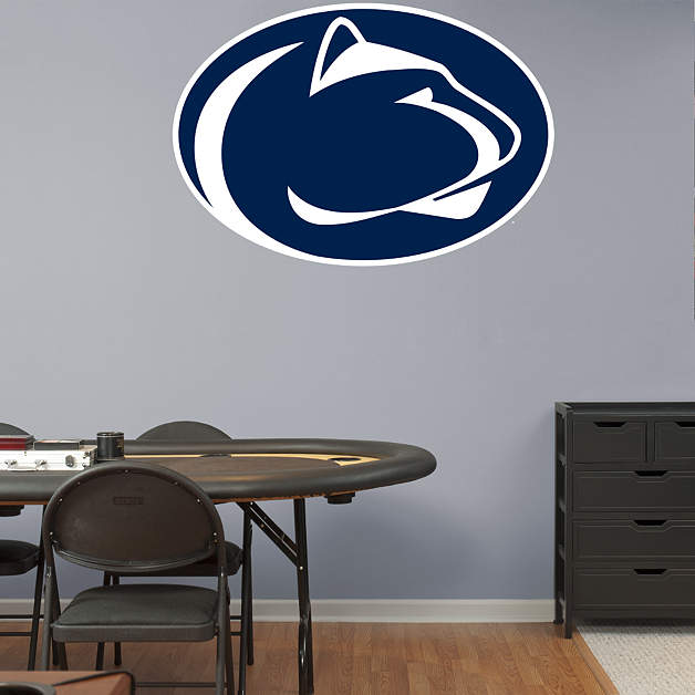 Penn state nittany lions logo fathead wall decal for Penn state decorations home