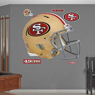San francisco 49ers helmet for 49ers wall mural