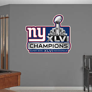 New York Giants Super Bowl XLVI Champions Logo